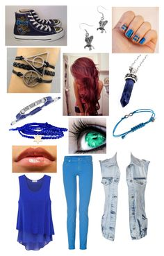 """""""Ravenclaw styled outfit"""" by galaxy-emo ❤ liked on Polyvore featuring Converse, Vince Camuto, Bellini, Minor Obsessions, Rachel Rachel Roy, 7 For All Mankind and VILA"""