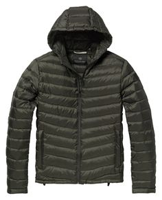 Quilted hooded jacket in nylon bag - Jackets - Scotch & Soda