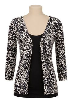 3/4 Sleeve Animal Print Cardigan available at #Maurices Need for work :)