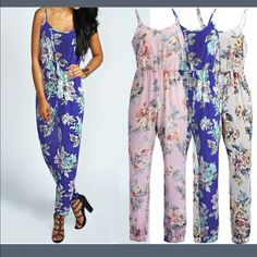 NWT JUMPER FLORAL NWT New jumper floral boho sexy very comfortable  Pants Jumpsuits & Rompers