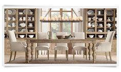 Beautiful dining room. Via  RH - Restoration Hardware
