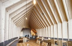 It might not be winter, but we think this ski lodge is worth a visit year round – Oberholz, Italy, by Peter Pichler Architecture. Photo Oscar Da Riz. #architecture in #wood