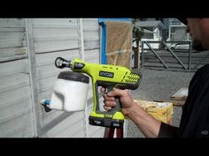 Ryobi 18 volt Pro Tip paint sprayer - YouTube