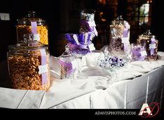 Candy and Popcorn bar for party favors