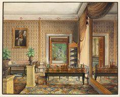 Study of Prince Karl of Prussia, Stadtschloss Berlin, Eduard Gaertner, 1848
