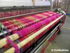 Weaving Mohair blankets
