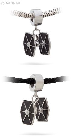 Star Wars Tie Fighter Charm Bead • RRRRRRRREEEEEEEEOOOOOOOOOOOOWWWWWWWWWW • Silver-tone TIE Fighter dangle charm bead • Fits all major brands of bracelet (inc. PANDORA, Chamilia, Biagi, Troll) • Add a leather or silver bracelet • You can get on the web site: Think Geek