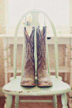 Cowboy Boots | Stephanie Sunderland Photography | TheKnot.com