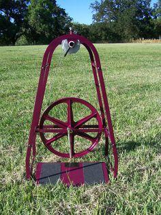 Columbine METAL spinning wheel. COOL.