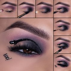 Get the look with our STATIC Palette & Luxe Precision Eye Line #halloweenmakeup #boo #cutcrease #halloweeneyemakeup