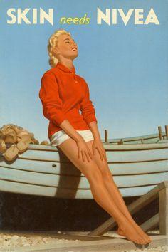 """source: bishopsbox Nivea advertisement (United Kingdom, 1958) Anuncio de Nivea (Reino Unido, 1958) """