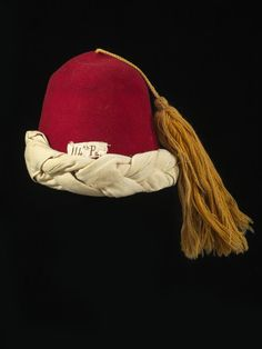 Fez of the Collins' Zouaves. US Civil War.  at the Smithsonian's American History Museum.