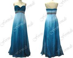 Ombré blue gown