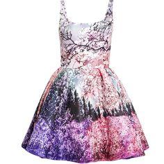 MARY KATRANTZOU Tivolio Printed Twill Dress ($2,680) ❤ liked on Polyvore featuring dresses, vestidos, short dresses, robes, sleeveless dress, mary katrantzou, pleated dresses, twill dress and square neckline dress