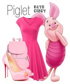 """""""Piglet~ DisneyBound"""" by basic-disney ❤ liked on Polyvore featuring Kipling and Privé"""