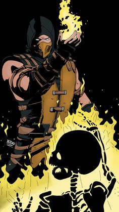 Sketch MKX Scorpion colored by on DeviantArt Sub Zero Mortal Kombat, Escorpion Mortal Kombat, Mortal Kombat Scorpion, Reptile Mortal Kombat, Mortal Kombat Video Game, Deviant Art, Mortal Kombat X Wallpapers, Claude Van Damme, Game Character Design