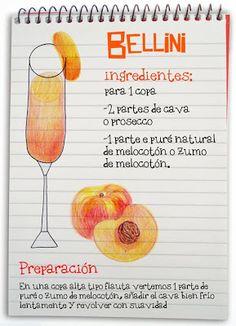 Receta cóctel Bellini - Descubre Catabox - Packs Gin Tonic y Vino - El regalo perfecto para los amantes de las cosas buenas y bonitas