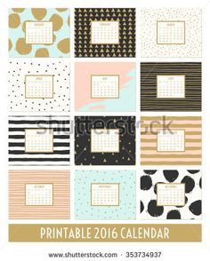 Cute Calendar Template For  Yearly Planner Calendar With All