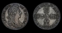 Genuine William III Solid Silver Antique Shilling Coin 1697, British, Old, English