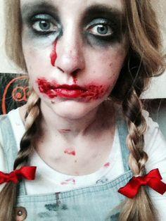 Zombie Dorothy makeup