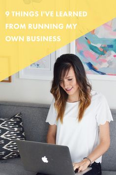 9 Things I've Learned From Running My Own Business. | Running your own business for two years can teach you a lot about life, working with people, and creating an online empire. Here's what it's taught me! #blogging #business