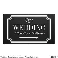 Shop Wedding directional sign banners in custom colors created by logotees. Wedding Direction Signs, Wedding Signs, Wedding Directions, Ceremony Signs, Directional Signs, Personalized Party Favors, Outdoor Banners, Wedding Reception Decorations, Wedding Favors
