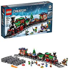 Lego Creator Expert Winter Holiday Train 10254 Christmas Train Set With Full Circle Train Track, Locomotive, And Spinning Christmas Tree Toy 734 Piec Lego Christmas Train, Spinning Christmas Tree, Holiday Train, Christmas Tree Toy, Christmas Ideas, Christmas Gifts, Christmas Store, Christmas Activities, Christmas 2019