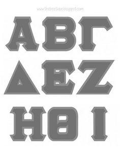 sorority fraternity graduation cap decor ideas 100 free printable stencil for greek letters via thebeetiqueblogspotcom