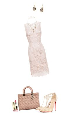 """""""Untitled #411"""" by newrealq ❤ liked on Polyvore featuring Dolce&Gabbana, Christian Dior, Christian Louboutin and Erickson Beamon"""