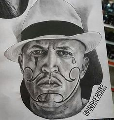 Chicano Tattoos Gangsters, Chicano Art Tattoos, Chicano Drawings, Chicanas Tattoo, Lowrider Art, Desenho Tattoo, Tattoo Models, Pencil Drawings, Tattoos For Guys