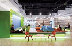 Koninklijke Philips HQ Office, Somerset, New Jersey. large company breakout areas