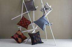Hand made cushions. http://stitchbystitch.eu/buy/