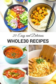 The Whole30 program focuses on real food only! These Whole30 Recipes will show you how easy that goal is to achieve. You can do anything for 30 days...