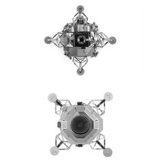 Aipin DIY 3D Puzzle Stainless Steel Assembled Model Lunar Module Silver Color