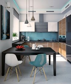Modern Decor - Modern yet brilliant tips. Wonderful styling reference data sectioned under modern decor minimalist home catergory as well produced on this day 20190427 Living Room Kitchen, Home Decor Kitchen, Interior Design Kitchen, Modern Interior Design, New Kitchen, Home Kitchens, Living Room Interior, Kitchen Modern, Modern Interiors