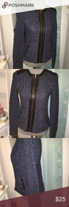 Grey free people long duster sweater jacket sz L   Long duster ...