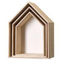Bloomingville klein Aufbewahrungskisten Haus Holz