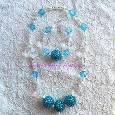 Frozen Jewelry Set,  Stretch necklace & stretch bracelet, by MyCupcakeInspiration