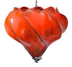 Orange Henna Ceilling Lamp