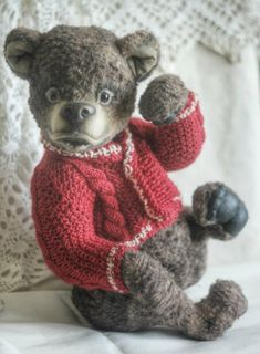 handmade teddy bear ooak teddy bear artist teddy bear one of a kind toy big bear plush toy artist bear handmade toys stuffed toys by chernyachi on Etsy