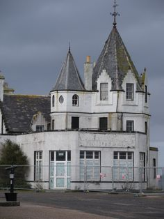 Abandoned hotel, John O'Groats, Scotland. Famous for being the northernmost point in Great Britain, this hotel is now closed and boarded up.