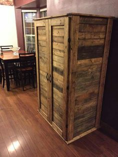 From pallets.                                                                                                                                                                                 More