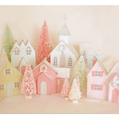 Find out about 10 christmas village diy christmas villages diy christmas village cereal boxes and glitter bottle brush trees solutioingenieria Choice Image