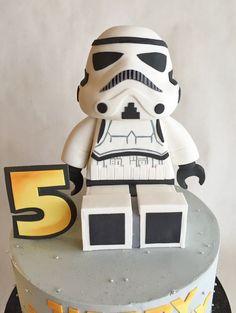 Birthday cake | Star Wars | Stormtrooper | custom topper | lego storm trooper: