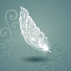 Download Calibre Avec La Plume Sans Paire à L'arrière-plan Fleuri Illustration de Vecteur - Image: 40465518
