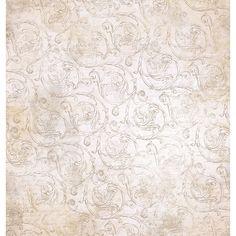 Página para Scrapbook Dupla Face Litoarte 30,5 x 30,5 cm - Modelo SD-371 Peônias, Pássaros e Gaiola/Arabesco - CasaDaArte