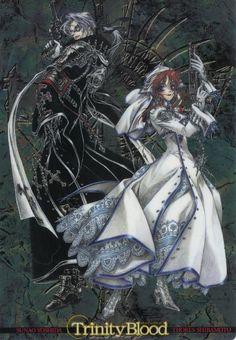 Buy Trinity Blood the blood of holy devil Esther Blanchett Nuns cosplay costume at online store Manga Art, Manga Anime, Blind Art, Theme Anime, Trinity Blood, Character Art, Character Design, Gothic Anime, Old Anime