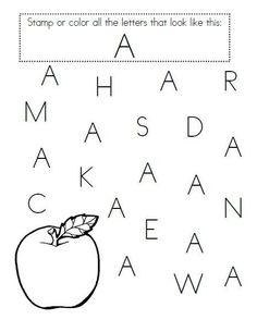 Pre Kindergarten Alphabet Worksheets Great for Pre K Letter Recognition Pre K Worksheets, Alphabet Worksheets, Alphabet Activities, Preschool Worksheets, Preschool Learning, In Kindergarten, Printable Alphabet, Printable Worksheets, Printables