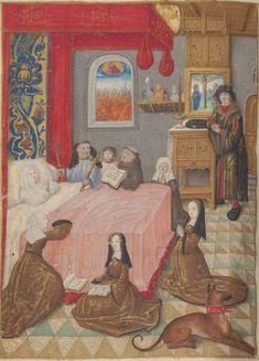 Livre d'heures, en latin et en français, à l'usage de Cambray  1401-1500  Ms-1185 réserve  Folio 373v