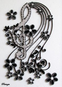 Quilled treble clef by pinterzsu.deviantart.com on @deviantART